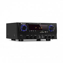 Auna Amp-2 BT, HiFi zesilovač, 2 x 50 W, BT, USB, SD, 2 x mikrofonní vstup, černý
