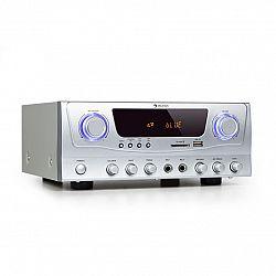 Auna Amp-2 BT, HiFi zesilovač, RMS 2 x 50 W, BT, USB, SD, 2 x mikrofonní vstup
