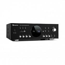 Auna AMP-218, BT, surround zesilovač, 5.1, 2x 120 W, 3x 50 W RMS, BT, 2x mikrofon