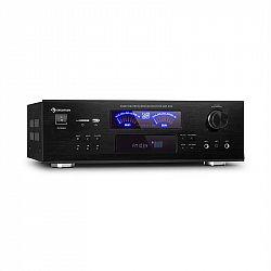 Auna AMP 5100 BT, stereo zesilovač, 2x 120 W + 3x 50 W RMS, BT, černý