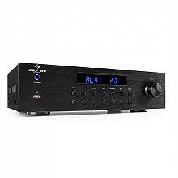Auna AV2-CD850BT, 4-zónový stereo zesilovač, 8 x 50 W RMS, bluetooth, USB, CD, černý