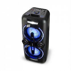 Auna Bazzter, párty zvukový systém, 2 x 50 W RMS, akumulátor, BT, USB, MP3, AUX, FM, LED, mikrofon