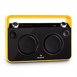 Auna Bebop Ghettoblaster, žlutý, USB, bluetooth, AUX, MIC