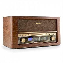 Auna Belle Epoque 1906, retro stereo systém, CD, USB, MP3, AUX, FM / AM