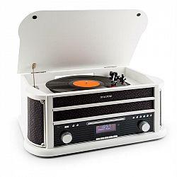 Auna Belle Epoque 1908 DAB, bílý, retro stereo systém, gramofon, DAB +, bluetooth