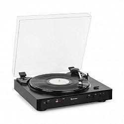 Auna Fullmatic, plně automatický gramofon, předzesilovač, USB, černý