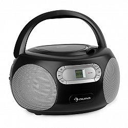 Auna Haddaway, CD boombox, CD přehrávač, bluetooth, FM, AUX vstup, LED displej, černý