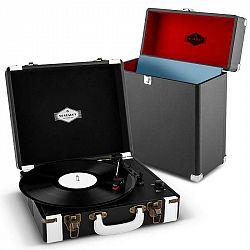 Auna Jerry Lee Record Collector Set black | retro gramofon | kufřík na gramofonové desky