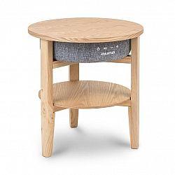 Auna Milano, reproduktorový stolek, 30 W RMS, BT, Wireless Charging, 2200 mAh, dřevo