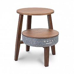 Auna Paris, stolek s reproduktorem, 30 W, RMS, BT, bezdrátové nabíjení, 2200 mAh, ořech