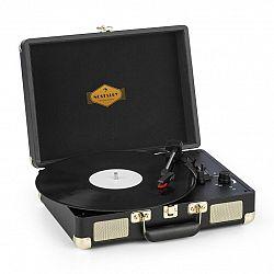 Auna Peggy Sue, gramofon, stereo reproduktor, USB připojení, černá/zlatá