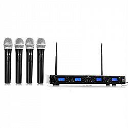 Auna Pro Bezdrátový mikrofonní set Malone UHF-550 Quartett1, 4 kanály