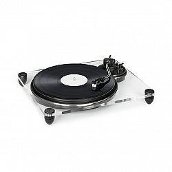 Auna Pureness, gramofon, akryl, 33 1/3 + 45 ot./min., předzesilovač, transparentní