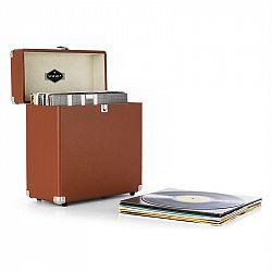 Auna TTS6, hnědý, kufr na desky, kůže, retro, 30 LP desek