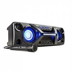 Auna Ultrasonic BT, boombox, bluetooth, 2x 20 W, LCD displej, funkce karaoke, černý