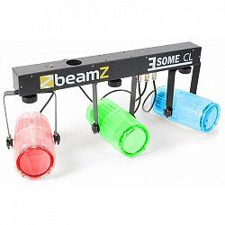 Beamz 3 Some CL, transparentní, sada LED světelných efektů, 5dílná, T-panel, 171 RGBW LED diod