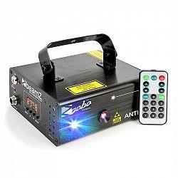 Beamz Anthis II, dvojitý laser, 7 DMX kanálů, 9 W RGB, 12 motivů, MASTER / SLAVE