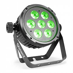 Beamz BeamZ BT270 LED Flat Par, LED reflektor, 7x 6W 4v1 LED diod s RGBW, dálkové ovládání