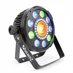 Beamz BX96 PAR 9X9W 6v1, RGBW-UV LEDky, 24XSMD-LEDky, COB technologie, dálkové ovládání