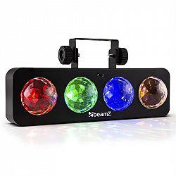 Beamz DJ Bank BX, 20 W, LED světelný efekt se 4 RGBA LED, dálkovým ovládáním, černý