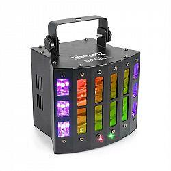 Beamz Magic 2, derby, R/G laser, stroboskop / UV světelný efekt, 9 DM kanálů, černá