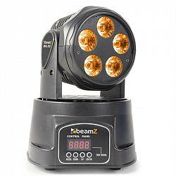 Beamz MHL90 Mini, otočná hlava, LED světelný efekt, 5x 18 W, RGBAW-UV, 6 v 1