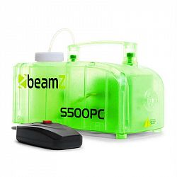 Beamz S500PC, transparentní, mlhovač, RGB LED diody, 500 W, včetně mlžné tekutiny