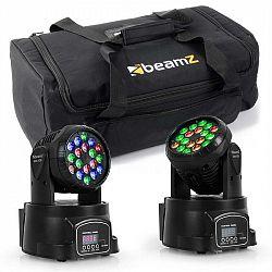 Beamz set světelných efektů s transportní taškou, 2 x moving head LED 108