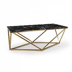 Besoa Black Onyx I, konferenční stolek, 110 x 42,5 x 55 cm (Š x V x H), mramor, zlatý/černý