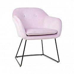 Besoa Zoe, čalouněná židle, pěnová výplň, polyesterový potah, ocel, růžová