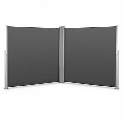 Blumfeldt Bari Doppio 620, dvojitá boční markýza, 6 x 2 m, hliník, antracitová