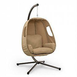 Blumfeldt Bella Donna, závěsné houpací křeslo, polštář na sezení, 180 g polyester, béžové