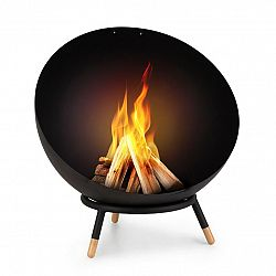 Blumfeldt Fireball Wood, sklopné ocelové ohniště, do zahrady nebo na terasu, Ø 60 cm