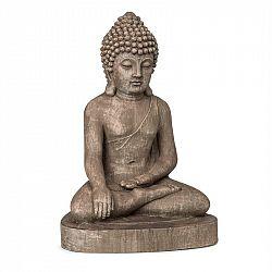 Blumfeldt Gautama, zahradní socha, 43 x 61 x 34 cm, fibreclay, hnědá