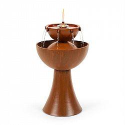 Blumfeldt Hadrian zahradní fontána s olejovou lampou, 8 W, pozinkovaný kov, rezavá barva