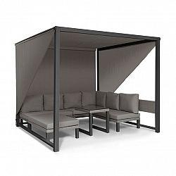 Blumfeldt Havana, pavilon & Lounge-Set, 270x230x270cm, 4 dvojsedadlá, šedý