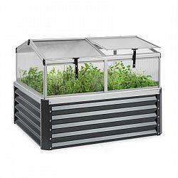 Blumfeldt High Grow Advanced, vyvýšený záhon se střechou, 120x95x100cm, 540l, ocel, antracitový