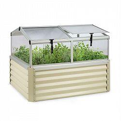 Blumfeldt High Grow Advanced, vyvýšený záhon se střechou, 120x95x100cm, 540l, ocel, béžový