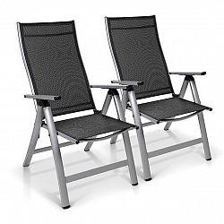 Blumfeldt London, zahradní stolička, souprava 2 kusů, textilen, hliník, 6 pozic, skládací
