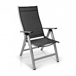 Blumfeldt London, zahradní stolička, textilen, hliník, 6 pozic, skládací