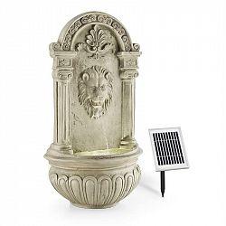 Blumfeldt Löwenstein, nástěnná fontána, zahradní, solární panel, 2 W, LED, polyresin, vzhled kamene