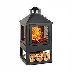 Blumfeldt Macondo, ohniště, nádoba na oheň, 35 x 35 cm, uzavřená, ocel, černá