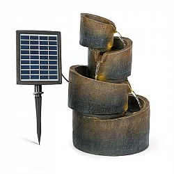 Blumfeldt Mantua, kaskádová zahradní fontána, solární provoz, 4 úrovně, akumulátor