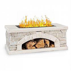 Blumfeldt Matera, ohniště, 50,5 x 26,5 cm, umělý kámen, ocel, černé / vzhled kamene