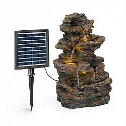 Blumfeldt Messina, kaskádová zahradní fontána, solární provoz, 4 úrovně, akumulátor