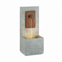 Blumfeldt Milos, fontána, LED, interiér a exteriér, 5 m kabel, cement, šedá