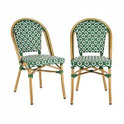 Blumfeldt Montbazin GR, stolička, možnost ukládat židle na sebe, hliníkový rám, polyratan, zelená