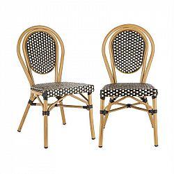 Blumfeldt Montpellier BL, židle, možnost ukládat židle na sebe, hliníkový rám, černo-krémová