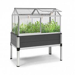 Blumfeldt Novagrow Advanced, skleník, 113,5x129x60,5cm, 166l, UV ochrana, šedý