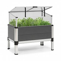 Blumfeldt Novagrow Advanced, skleník, 78,5x75,5x47cm, 86l, UV ochrana, šedý